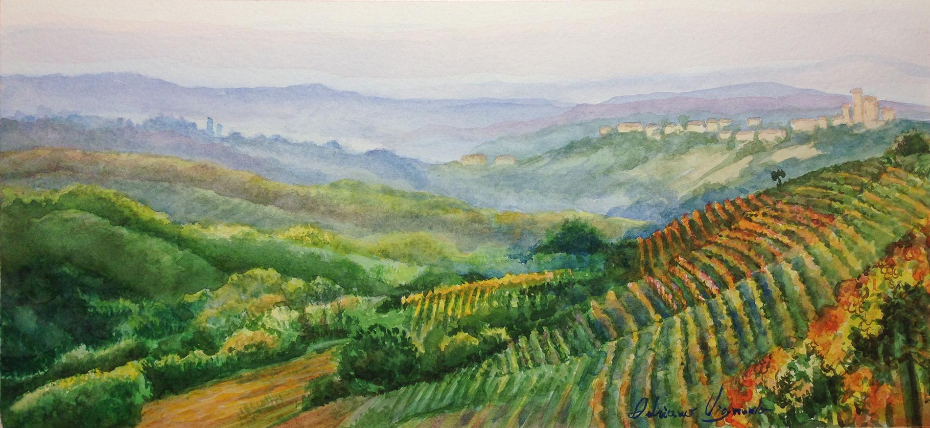 Paesaggio ad acquerello